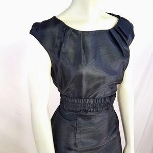 NWT Adrienne Vittadini Black Sheen Fit Dress 8